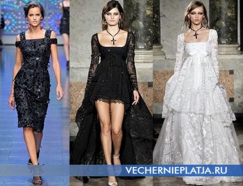 Вечерние платья с квадратным вырезом от Dolce & Gabbana, Emilio Pucci