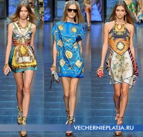 Летние платья туники 2012 от D&G