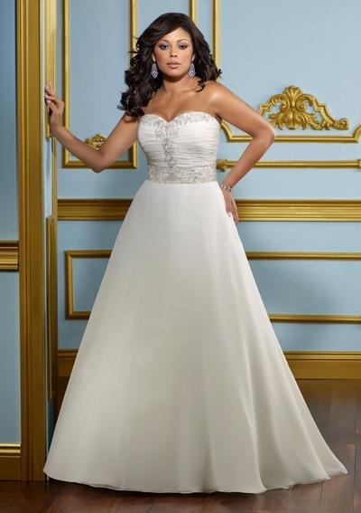 Свадебные платья 2012 для полных невест