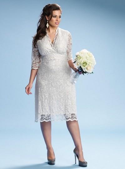 Короткое свадебное платье 2012 для полных