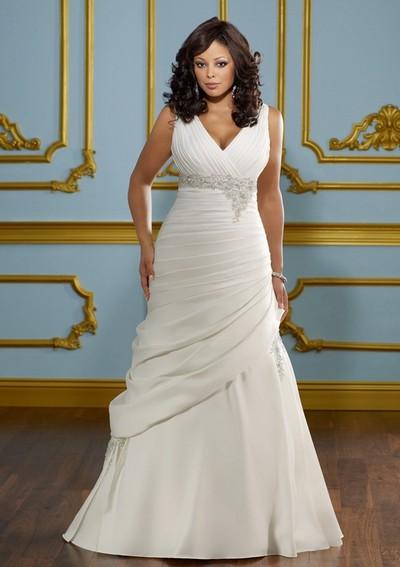 Свадебное платье 2012 для полных девушек
