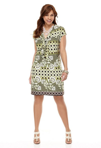 Платья трикотажные для полных 2012