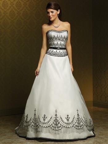 Черно-белые свадебные платья