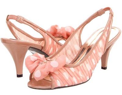 Обувь к платью в горошек