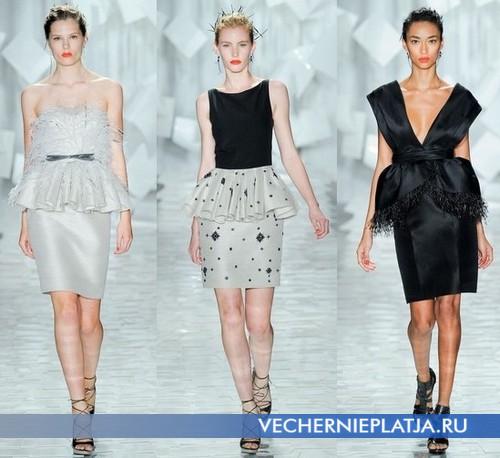 Модные платья 2012 с воланом-баской от Jason Wu