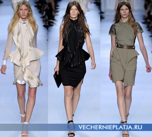 Платья с баской Весна-Лето 2012 в деловом стиле от Givenchy