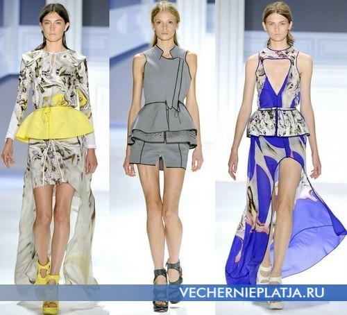 Летние модные платья с баской 2012 от Vera Wang