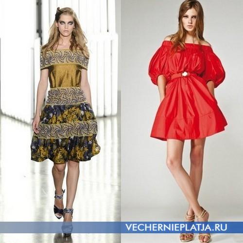 Короткие платья с открытыми плечами Весна-Лето 2012 от Rodarte и Miss Sixty