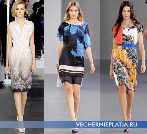 Модные платья с принтом от Christian Dior и Van der Ham