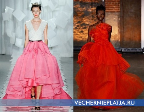 Длинные пышные платья 2012 от Jason Wu и Christian Siriano