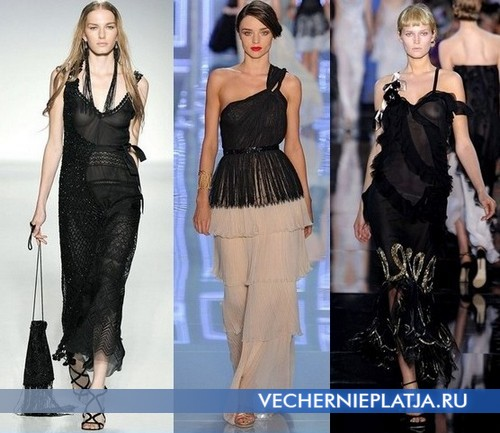 Длинные платья 2012 от Alberta Ferretti, Christian Dior, John Galliano