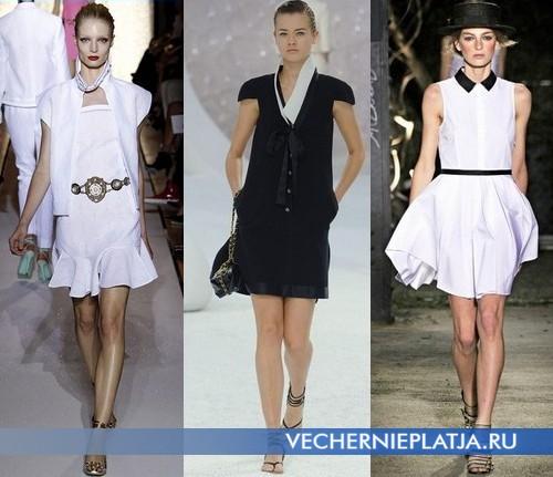 Какие платья модны в этом сезоне – морские платья от Yves Saint Laurent, Chanel, Band of Outsiders