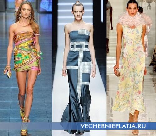 Какие платья с принтом модные в 2012 – D&G, Maxime Simoens, Ralph Lauren