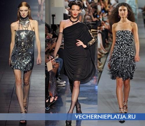 Модные короткие вечерние платья 2012 от Lanvin, Jean Paul Gaultier, Oscar dela Renta