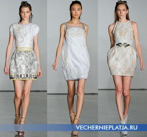 Модные платья баллон Весна-Лето 2012 от Aquilano Rimondi