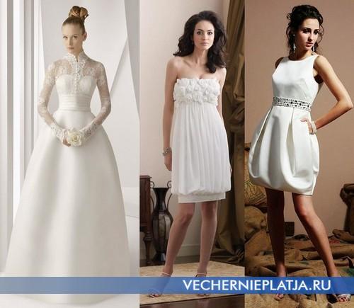 Свадебные платья-баллон фото