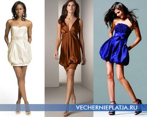 Модели платьев баллон
