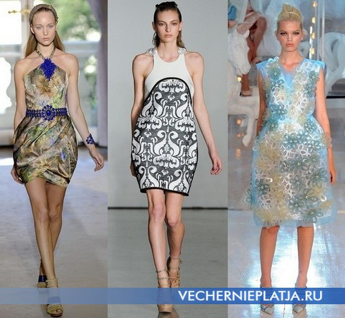 Коктейльное платье баллон 2012 фото, коллекции Andrew Gn, Aquilano Rimondi, Louis Vuitton