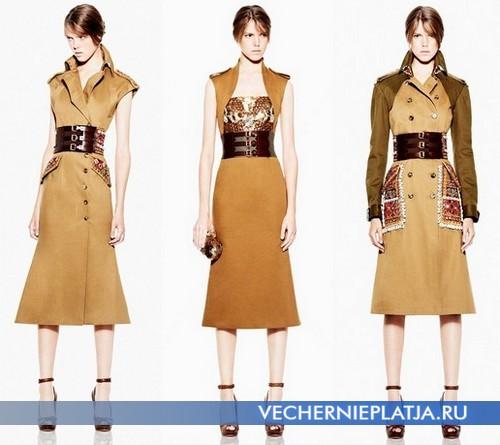 Сафари платья 2012 от Alexander McQueen