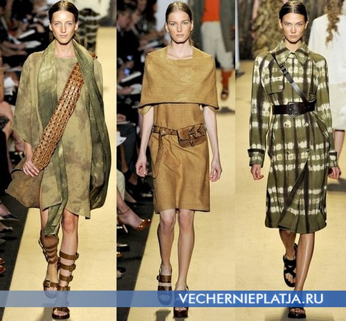 Аксессуары к сафари платьям 2012 от Michael Kors