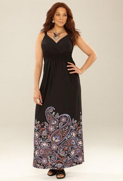 Летние платья-сарафаны для полных 2012