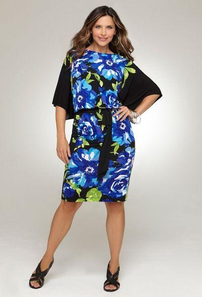 Модное платье для полных 2012
