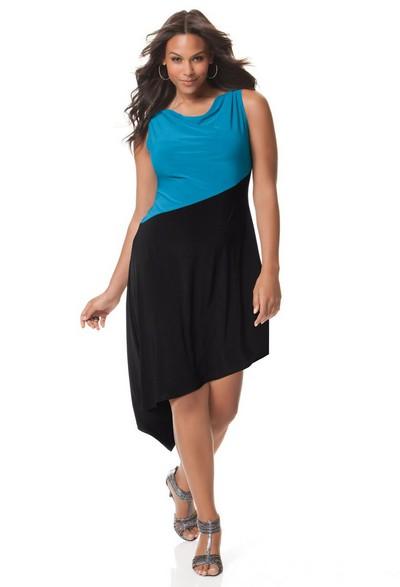 Летние платья 2012 для полных девушек