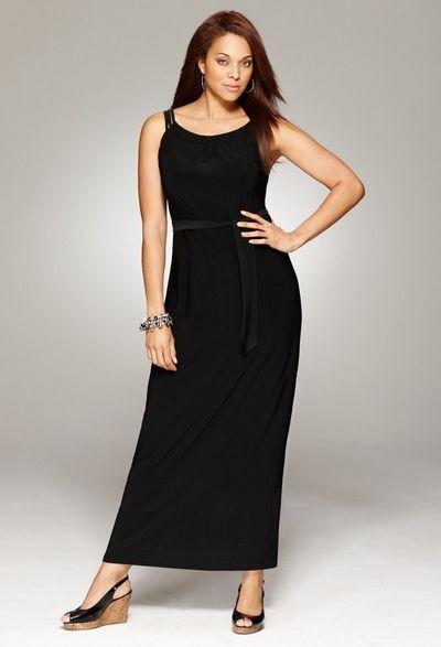 модные длинные платья для полных 2012