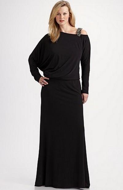 Вечернее платье 2012 для полных