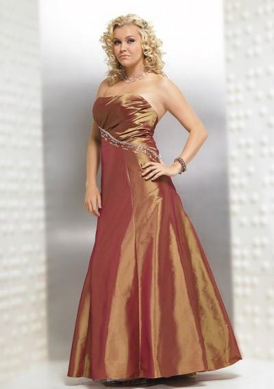 Вечернее платье принцесса для полных 2012