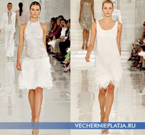 Свадебные платья с заниженной талией от Ralph Lauren