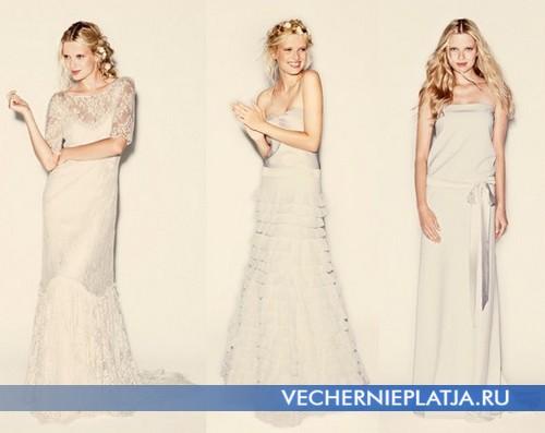 Свадебные платья с заниженной талией от Delphine Manivet