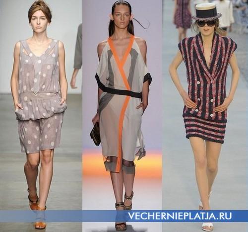 Модные платья с низкой талией от Detacher, Max Azria, Chanel