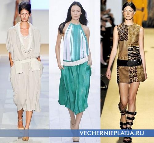 Летние платья с заниженной талией 2012 от Diane von Furstenberg, Chloe, Michael Kors