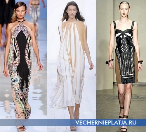 Модные платья в этническом стиле 2012 от Etro, Chloe, Donna Caran