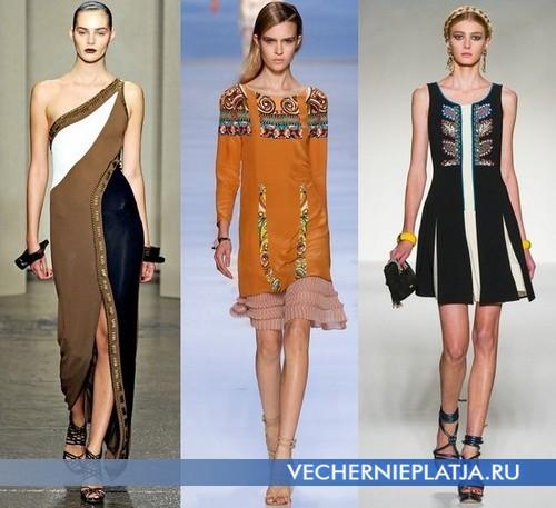 Этнические платья Весна-Лето 2012 от Donna Caran, Etro, Moschino