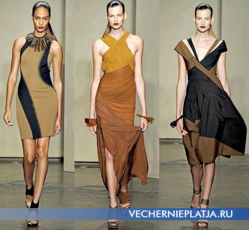 Платья сафари в этно стиле от Donna Caran, Весна-Лето 2012