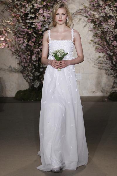 Свадебное платье на бретельках от Oscar de la Renta