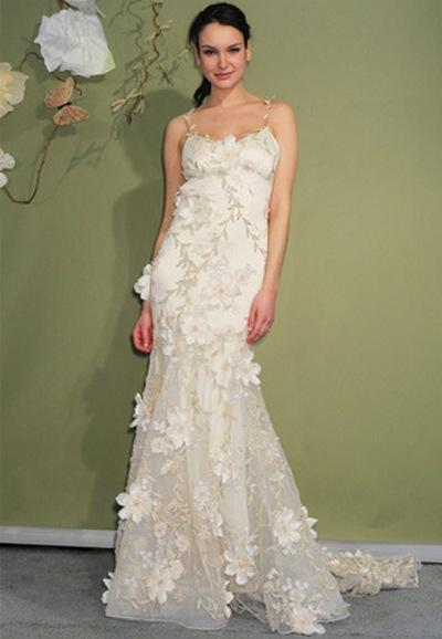 Свадебное платье на бретельках Claire Pettibone