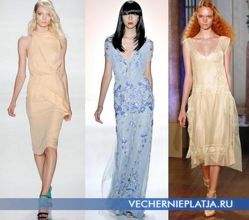 Модные платья лето 2012 от J. Mendel, Jenny Packham и Alberta Ferretti