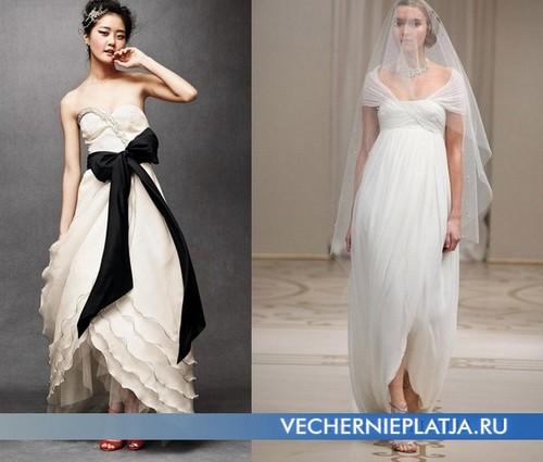 свадебное платье тюльпан