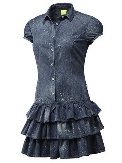 Джинсовое платье спортивного стиля от Адидас