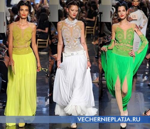 Восточные вечерние платья от Jean Paul Gaultier