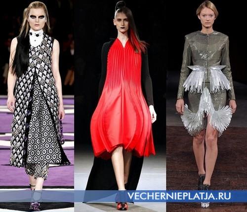 Модные платья в восточном стиле от Prada, Yohji Yamamoto, Iris van Herpen