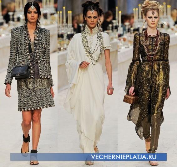 Платья в восточном стиле от Chanel