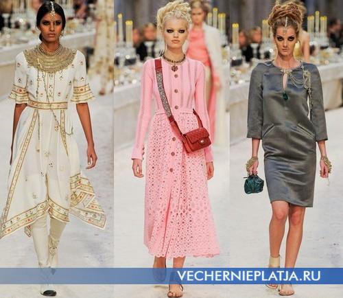 Украшения к платьям в восточном стиле от Chanel