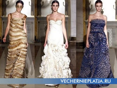 Платья с воланами от Luisa Beccaria