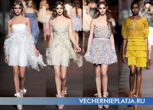 Платье из шифона с воланами, коллекция Осень-Зима 2011-2012 Christian Dior