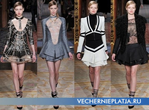 Короткое платье с воланами, коллекция Осень-Зима 2011-2012 Antonio Berardi