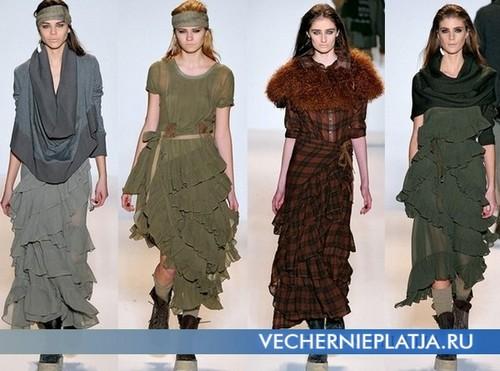 Вечерние платья с воланами, Nicholas K